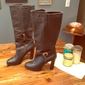 Real Leather Banana Republic Knee High Boots